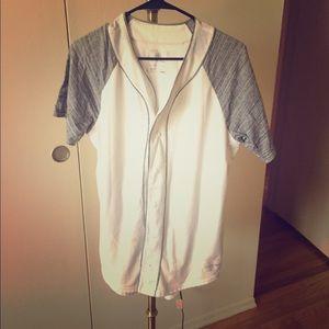 Pac sun button up t shirt
